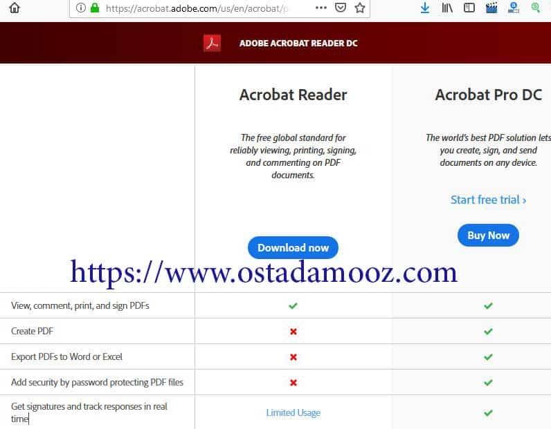 رمز گذاری روی فایل pdfبا نرم افزار acrobat reader